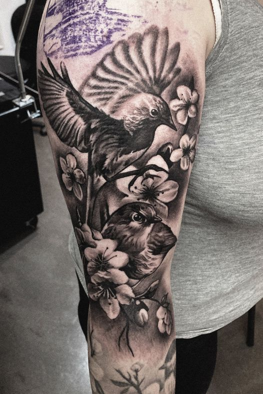 Black and gray realistic tattoo!